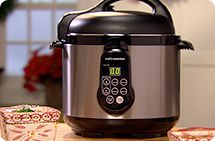 Cook's Essentials® 4-qt. digital stainless steel pressure cooker