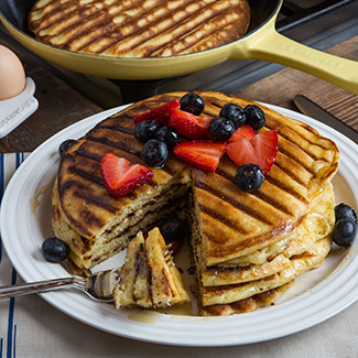 Grilled Overnight Waffles