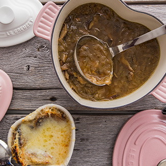 French Onion Soup with Wild Mushrooms