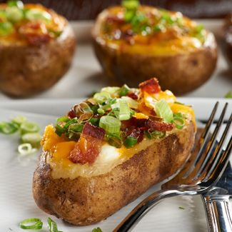 Loaded Breakfast Baked Potato — David Venables Recipes — QVC ...