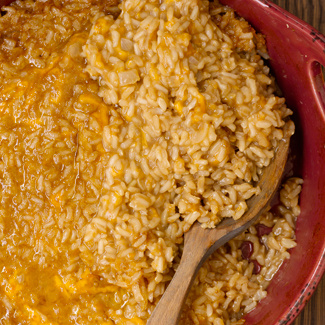 Mom's Beefy Brown Rice Casserole
