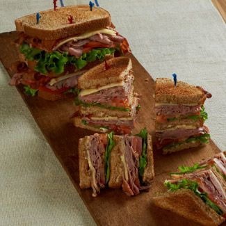 Roast Beef Club Sandwich
