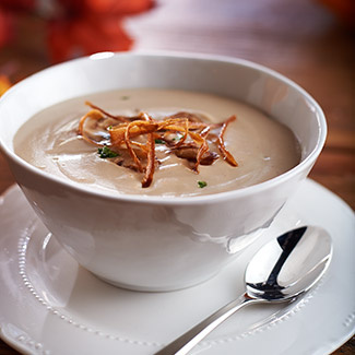 Roasted Chestnut & Parsnip Soup