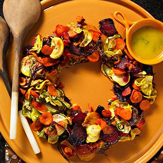 Roasted Vegetable Salad Wreath