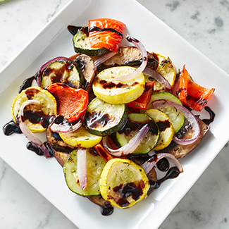 Roasted Vegetables with Balsamic Glaze