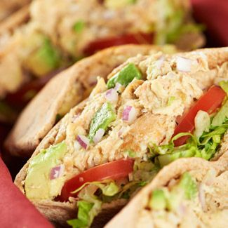 Chicken-Salad Stuffed Pitas