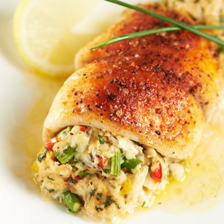 Crab asparagus stuffed tilapia david venables recipes for Stuffed fish with crab meat