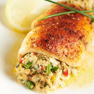 Crab & Asparagus-Stuffed Tilapia