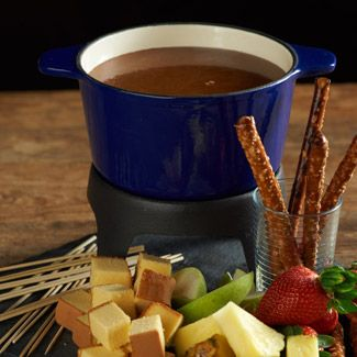 White Chocolate & Caramel Fondue