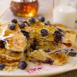 Whole-Wheat Pancakes with Blueberries & Toasted Almond