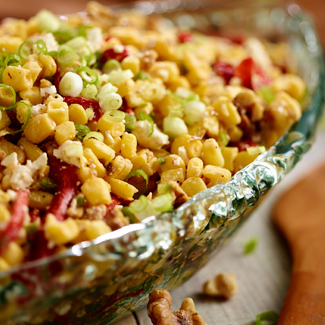 Corn Salad with Feta & Walnuts