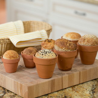 Bread in a Flower Pot