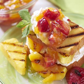 Grilled Fruit Shortcake