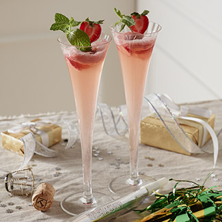 Strawberry Sorbet Champagne Float