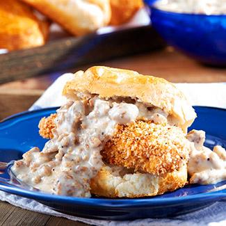 Chicken & Biscuits with Sausage Gravy
