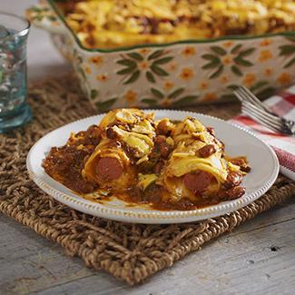 Chili-Cheese Dog Casserole