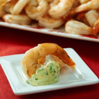 Citrus-Steamed Shrimp with Orange-Tarragon Aioli