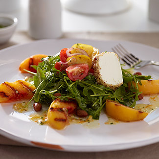 Grilled Peach & Arugula Salad