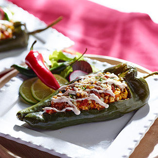 Grilled Stuffed Poblanos