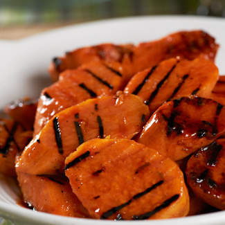 Honey Lime Barbecue Grilled Sweet Potatoes