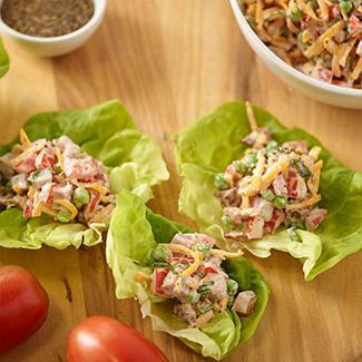 Ham Salad Lettuce Wraps