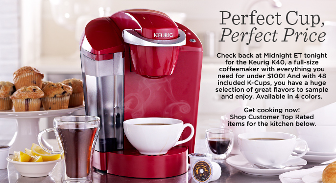 Keurig K40 with 48 K-Cup Packs & Water Filter