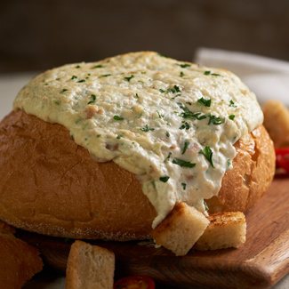 Clam Dip in a Bread Bowl