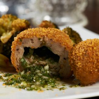Mini Chicken Kiev with Roasted Broccoli