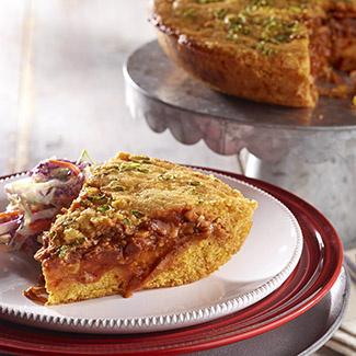 Pulled Pork Cornbread Pie