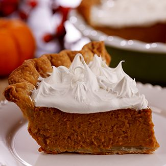 Pumpkin Pie with Marshmallow Frosting