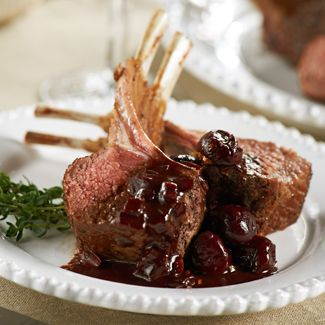 Roast Lamb in a Cherry & Red Wine Balsamic Sauce