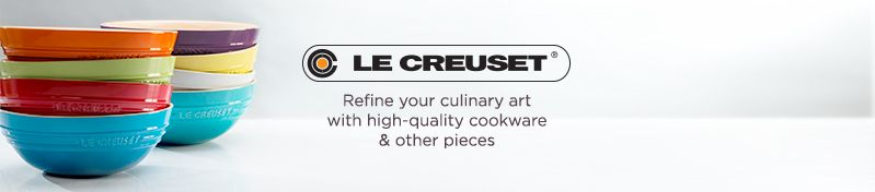 Le Creuset [logo]  Refine your culinary art with high-quality cookware & other pieces