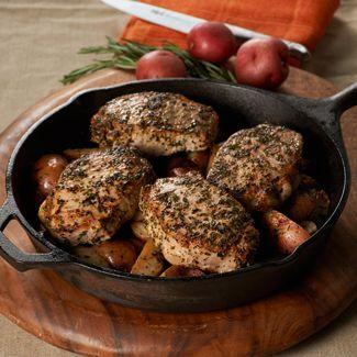 One-Pot Rosemary Pork Chops & Potatoes