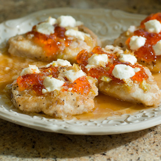 Santa Fe Glazed Chicken with Goat Cheese