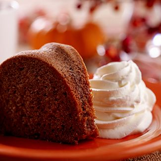 Spice Cake with Rum-Flavored Whipped Cream