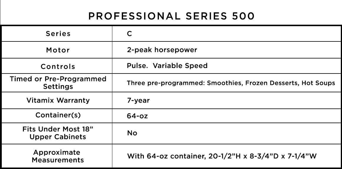Professional Series 500