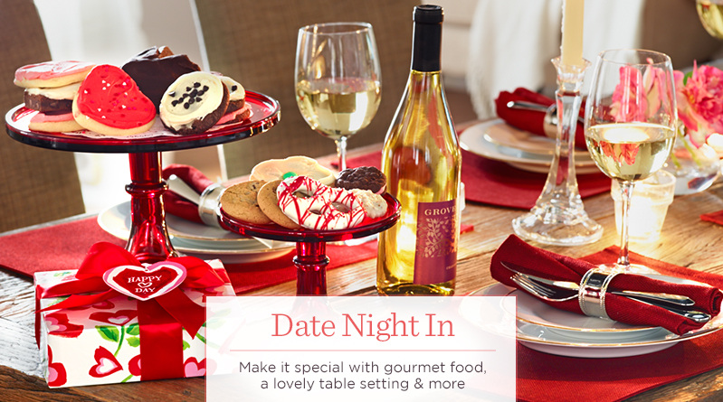 Date Night In,  Make it special with gourmet food, a lovely table setting & more