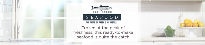 Egg Harbor Frozen at the peak of freshness, this ready-to-make seafood is quite the catch