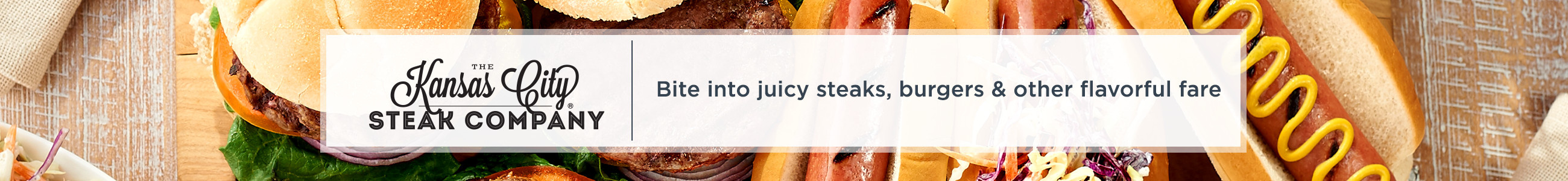 Kansas City Steak Company. Bite into juicy steaks, burgers & other flavorful fare