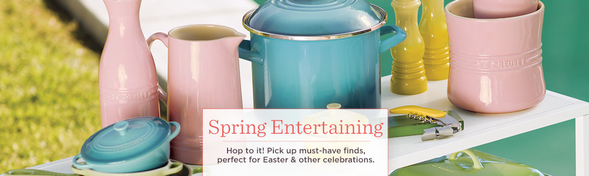 Spring Entertaining.  Hop to it! Pick up must-have finds, perfect for Easter & other celebrations.