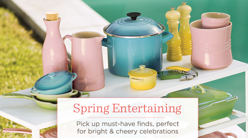 Spring Entertaining.  Pick up must-have finds, perfect for bright & cheery celebrations