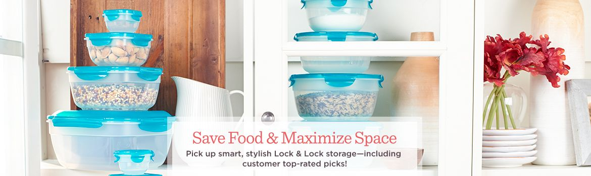 Save Food & Maximize Space   Pick up smart, stylish Lock & Lock storage—including customer top-rated picks!