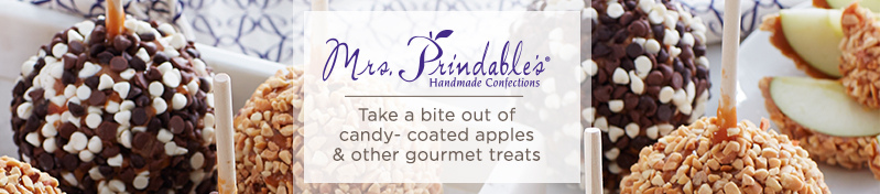 Mrs. Prindable's,  Take a bite out of candy-coated apples & other gourmet treats