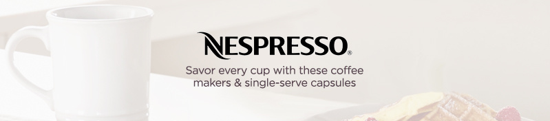 Nespresso. Savor every cup with these coffee makers & single-serve capsules