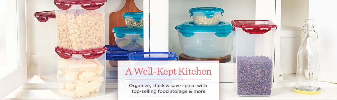 A Well-Kept Kitchen  Organize, stack & save space with top-selling food storage & more