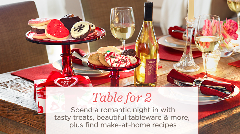Table for 2,  Spend a romantic night in with tasty treats, beautiful tableware & more, plus find make-at-home recipes