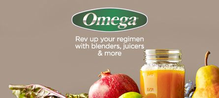 Omega, Rev up your regimen with blenders, juicers & more