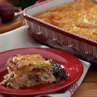Turkey Tetrazzini Pot Pie