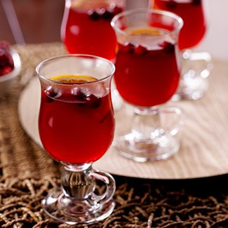 Warm Mulled Cranberry Punch