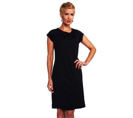 Joan Rivers Little Black Dress with a Twist